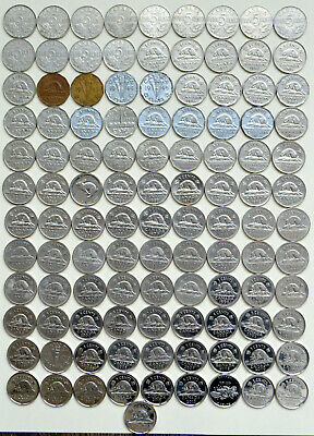 1922~2019 CANADA 106 x 5¢ Nickels All Years with Varieties Only Missing 1925,26