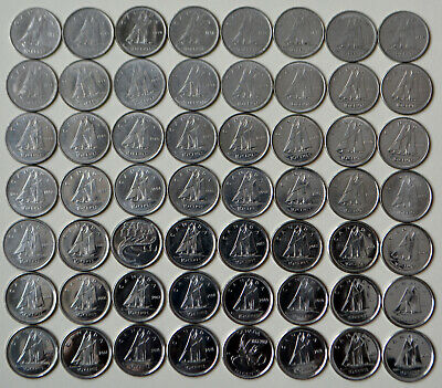 1968~2019 CANADA Collection of 55 x 10¢ dimes - All Years, Varieties, No Doubles