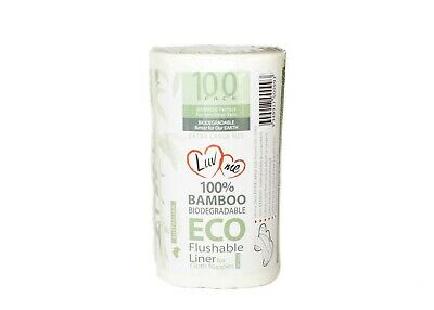 BAMBOO Flushable Liners Nappy Inserts Cloth Biodegradable ORGANIC Disposables
