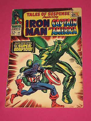 Tales of Suspense #84 Marvel Comics 1966 Silver Age, Captain America, Iron Man