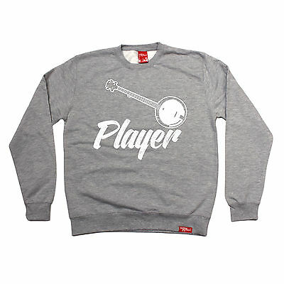 Banjo Player SWEATSHIRT jumper band guitar string sweat top funny birthday gift