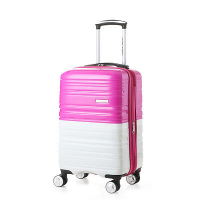 "New 20"" Travel Luggage Trolley TSA Spinner Suitcase Expandable Carry On Bag"