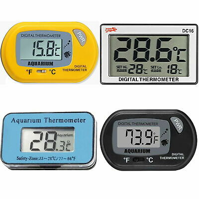 Digital LCD Thermometer For Aquarium Fish Tank Terrarium Fridge Freezer Temp New