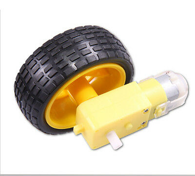 Smart Car Robot Plastic Tire Wheel  for Arduino with DC 3-6V Gear Motor 1PC