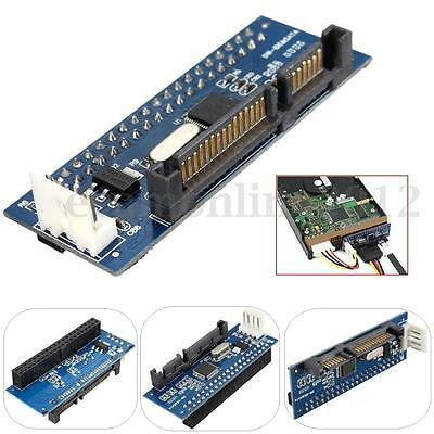 """PATA/40-Pin IDE Female to SATA Serial 7+15Pin 22-Pin Male Adapter Card for 3.5"""""""
