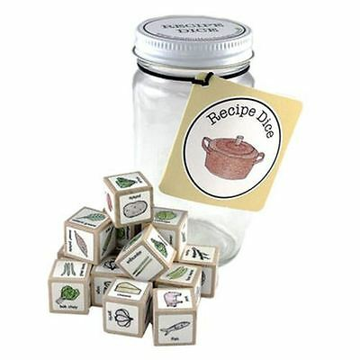 Wooden Recipe Dice Create Innovative Lunch Dinner Recipes Novelty Gift