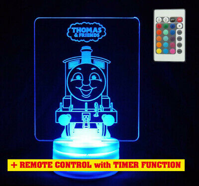 Thomas the Tank Train Engine Colour Changing LED Night Light Lamp Childrens Room