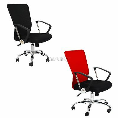 FoxHunter Computer Executive Office Desk Chair Mesh Fabric Swivel High Back OC11
