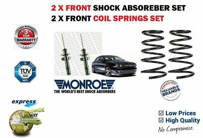 FOR JAGUAR X TYPE 2001-2009 2x FRONT SHOCK ABSORBER SHOCKERS + 2 X COIL SPRINGS