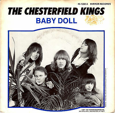 CHESTERFIELD KINGS baby doll / i cannot find her 45RPM 1987 Mirror Garage Psych