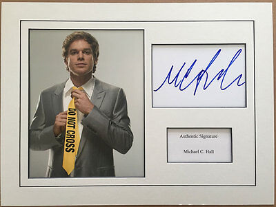 Michael C. Hall authentic signed 16x12 mounted Dexter display AFTAL UACC [12797]