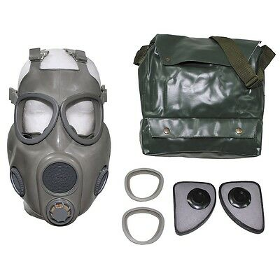 Czech Army  M10 Gas Mask - Bag - Sealed Filters - Extra Len Covers - Unissued