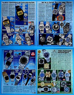 WATCH  Vintage Catalog Clippings  18 pages  from 1976 - 1978  clock  watch