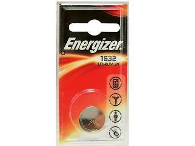 CR1632 Energizer 3 Volt Lithium Coin Cell Battery (On Card)