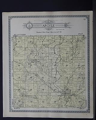 Wisconsin, Lafayette County Map 1910, Township of Argyle Q2#31