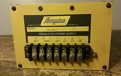 Acopian A24H850 Regulated Power Supply 24Vdc 8.5A