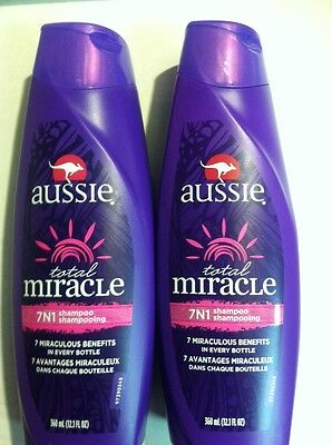 Lot of 4 x AUSSIE TOTAL MIRACLE 7N1 SHAMPOO 12.1 oz * 7 BENEFITS* AUTHENTIC