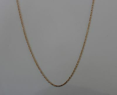 10k Yellow Gold Diamond Cut Link Chain 18 inches 2 grams - NEW