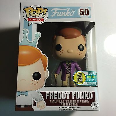 Funko SDCC 2016 Fundays Exclusive FREDDY WILLY WONKA # 50  LE 500