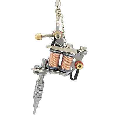 Tattoo Gun Necklace Pendant Retro Rockabilly Punk Gothic