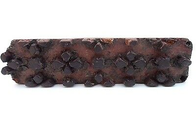 Antique Hand Carved Wood Block Textile Fabric Wallpaper Printing Stamp Read