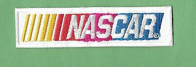 """New Nascar ' White' ' 1  X 3 3/4  """" Inch  Iron on Patch Free Shipping"""