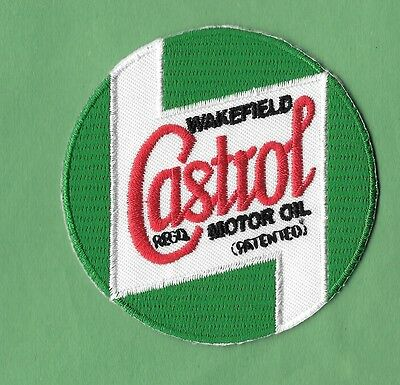 """New Castrol Motor Oil ' Green '  3  """" Inch  Iron on Patch Free Shipping"""