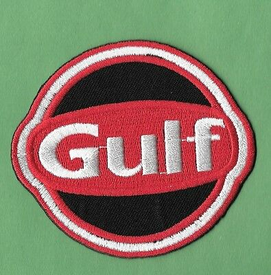 """New Gulf   'Red'  3 X 2 1/2  """" Inch  Iron on Patch Free Shipping"""