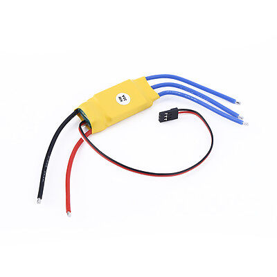 30A Brushless Motor Speed Controller RC BEC ESC T-rex 450 V2 Helicopter Boat WL