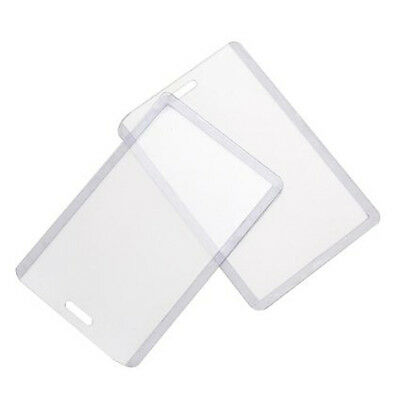 10pcs Vertical Plastic ID Card Holder Badge Holder OP