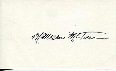 Maureen Mcteer Author / Wife Of Joe Clark Prime Minister Signed Card Autograph