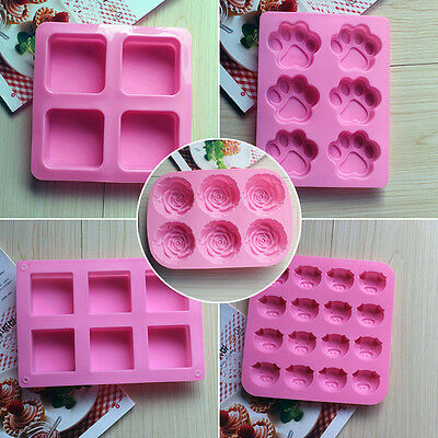 Silicone Ice Cube Candy Chocolate Cake Cookie Cupcake Soap Molds Mould DIY HOT