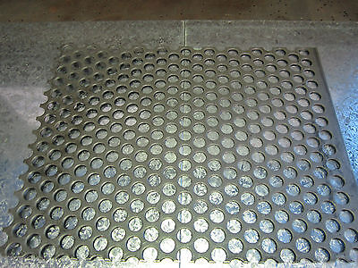 STEEL PERFORATED METAL SHEET MESH 380mm X 300mm - 20mm ROUND HOLES