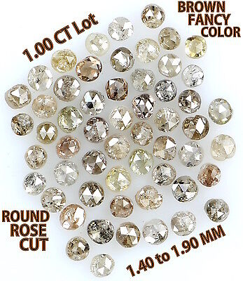 1.00 Cts Lot Natural Loose Diamond Brown Fancy Mix Color Round Shape K8