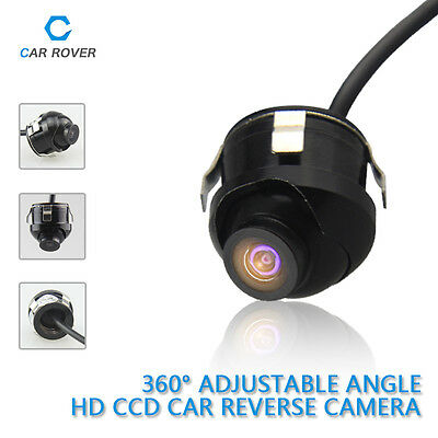 360° Rotation Night Vision Color CCD Car Parking Backup Rearview Reverse Camera