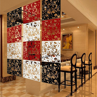 12 x Folding Screen Room Divider Hanging Screens Wall Panels DIY Home Decoration