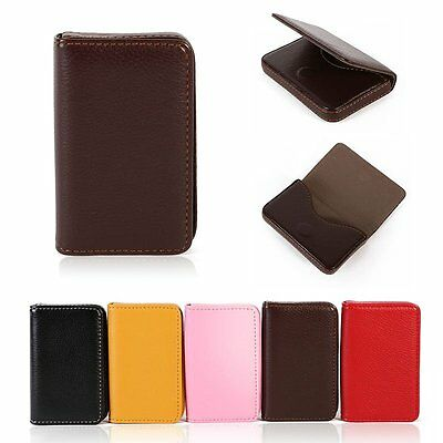 New Waterproof PU Leather Business ID Credit Card Wallet Holder Pocket Case Box