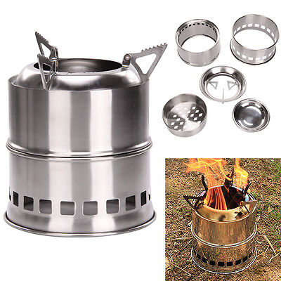 Outdoor Wood Stove Solidified Alcohol Stove Cooking Picnic Camping Hiking