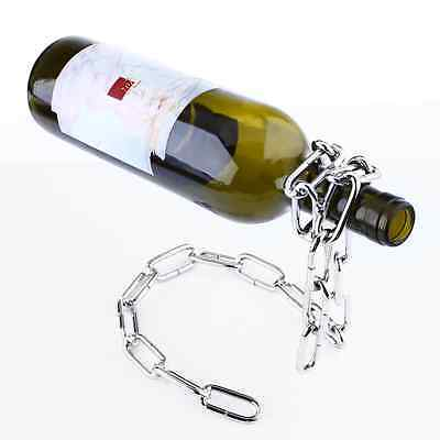 Floating Magic Chain Wine Bottle Holder Alcohol Rack Illusion Stand Kitchen