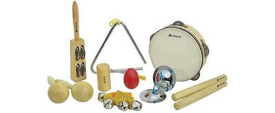 Chord 173.810 Rhythmic Sounds 9 Hand Percussion Set Instruments Starter Kit