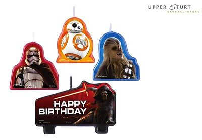 Star Wars VII Birthday Candle Set 4 Piece Party Pack Party Supplies