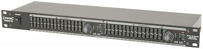 "Citronic 170.923 CEQ215 19"" Rackmount 1U Dual 15 Band Graphic Equaliser - New"