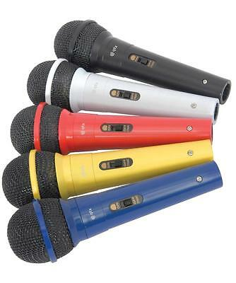 QTX 173.854 Plastic 80Hz to 14kHz DM5X Set of 5 Individually Colour Microphones
