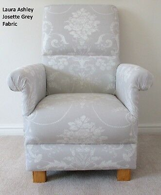 Laura Ashley Josette Dove Grey Fabric Adult Chair French Conservatory Armchair