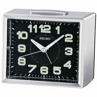 Seiko Bedside Alarm Clock with Snooze & Light - Black