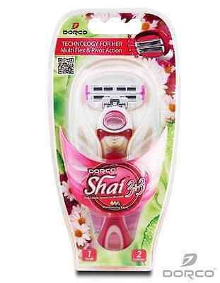 DORCO SHAI women 3+3(6) soft touch Razor system 1Handle+2cartridges FREE SHIP