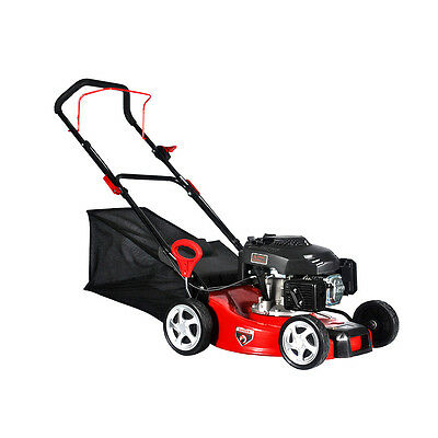 "MT 18"" 20"" Petrol Gas Lawn Mower Hand Push Self Propelled Rotary Primer 4 Stroke"