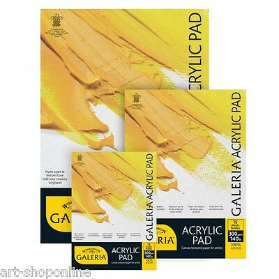 Winsor and Newton Galeria Acrylic Paint Pads Gummed A4 A3 Canvas Texture