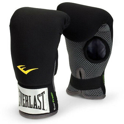 Everlast Neoprene Heavy Boxing Punch Bag Gloves Mitts with Elastic Wrist Wrap