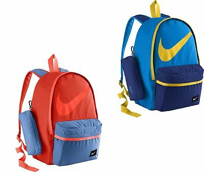 Nike Young Halfday Back to School Rucksack Backpack in Blue & Red BA4665 406 696